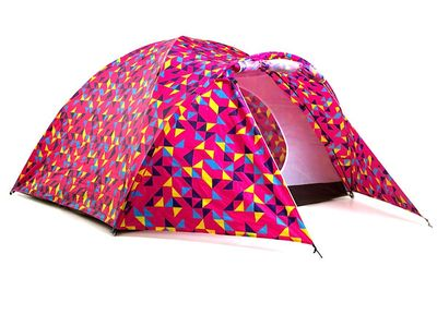 We love this tent! Great print, enough room for 4 people and a solar panel to keep all your electronics charged! It's the perfect festival companion.
