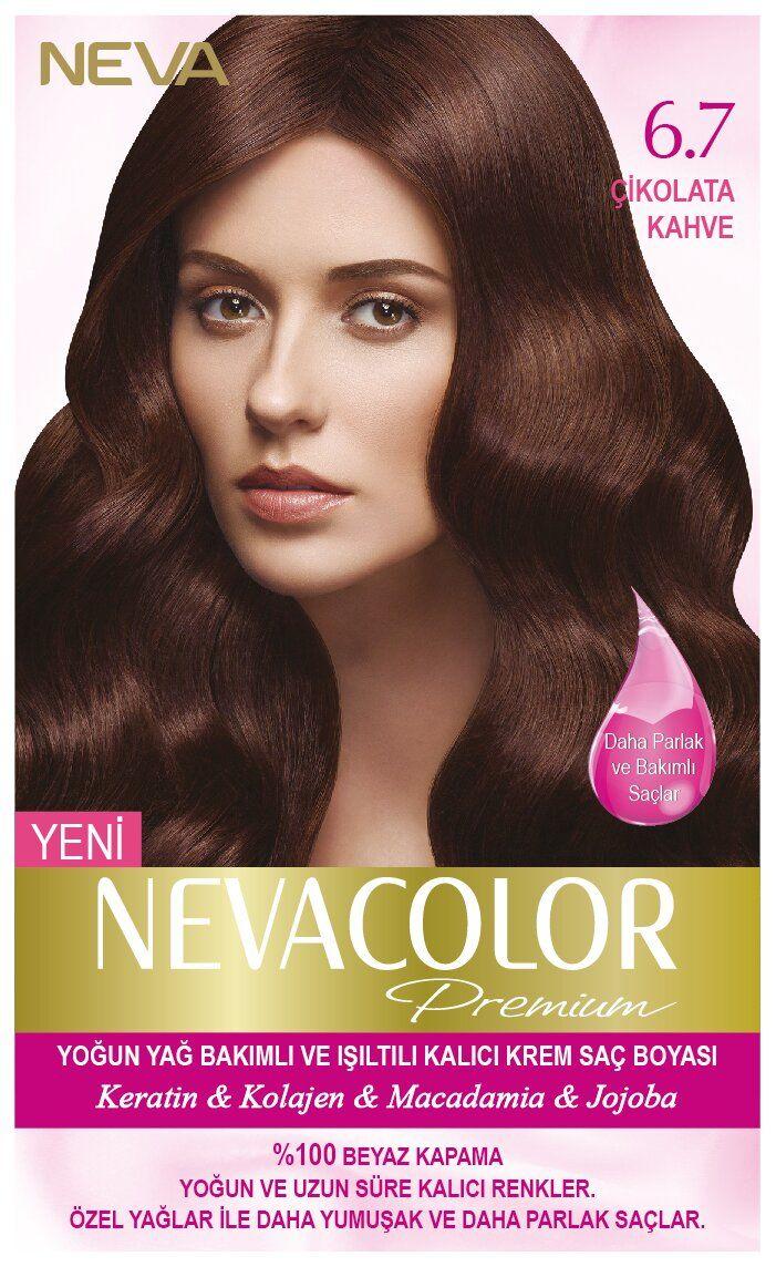 Neva Color Premium Sac Boyasi 6 7 Cikolata Kahve Kolajen Sac