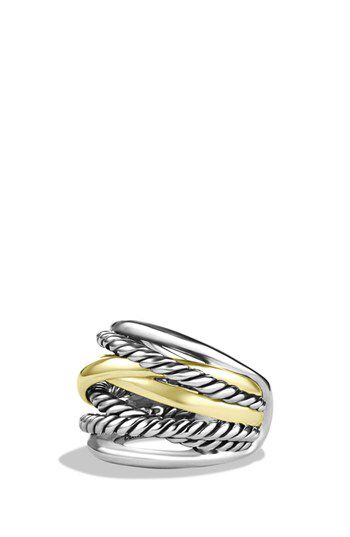 David Yurman David Yurman 'Crossover' Wide Ring with Gold available at #Nordstrom