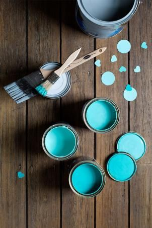Love these colours! Styling by Ruth Welsby & photography by Martina Gemmola for haymes Paint
