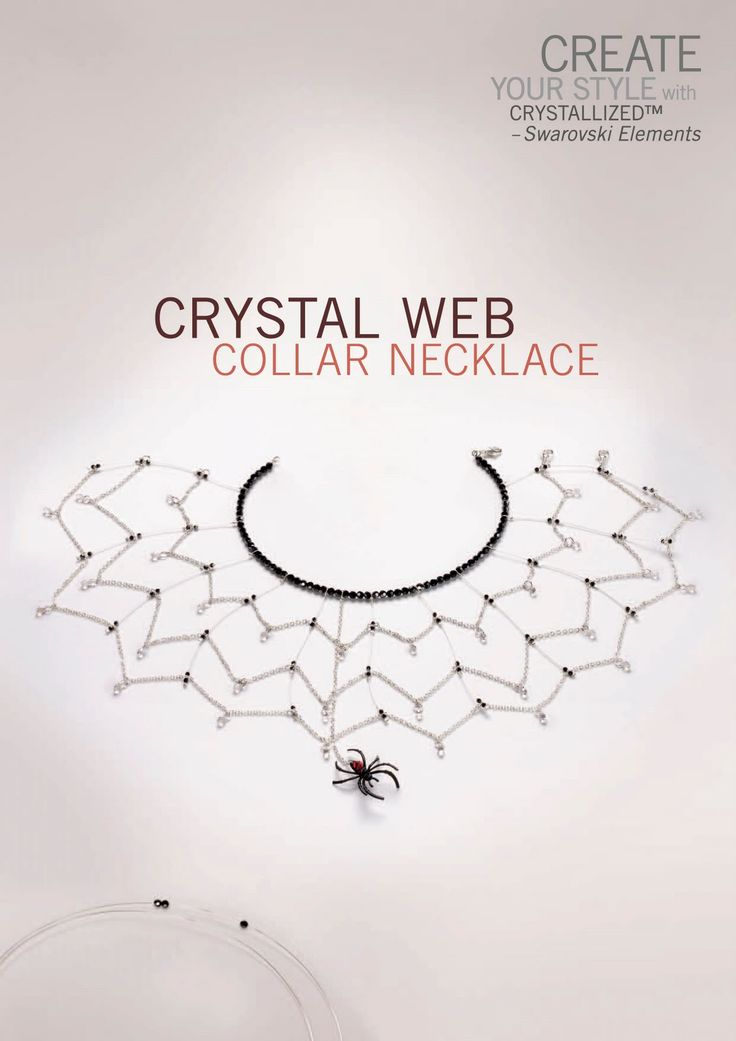 Crystal Web Collar Necklace for SWAROVSKI ELEMENTS  Copyright 2010   Here it is, Friday again, and I don't have a new project for you becau...