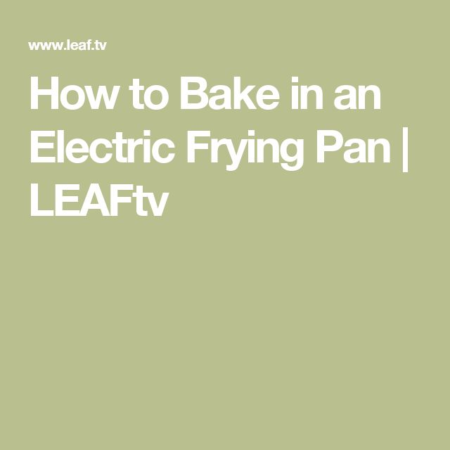 Easy electric fry pan recipes