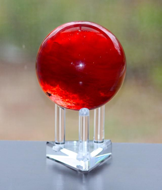 What Is Red Mercury?: This sphere of cinnabar in quartz may be considered to be a form of red mercury. Cinnabar or vermilion is red mercury(II) sulfide.