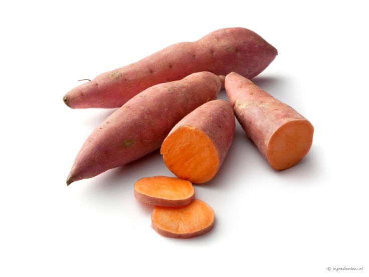 Sweet Potato: Contains vitamin-A for a wow!-skin. The skin is the first protection layer from the body en so the most important.  Vitamin-A is also important for the production of immune cells.
