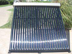 Colector solar termosifonico tipo Manifold de 25 o 50 tubos ideal para sistemas de calefacción o climatización