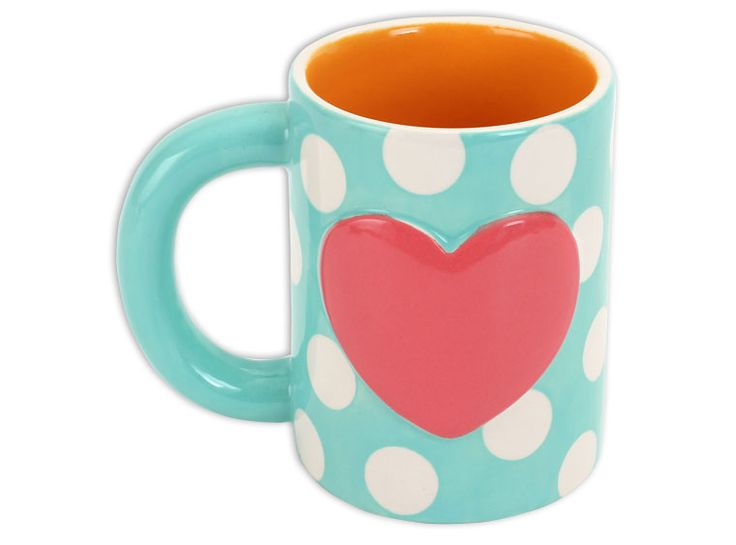The Herbie The Love Mug Is Bisque Beverageware With A Heart Perfect For  Your Loved Ones! Paint This Sweet Bisque Coffee Mug.