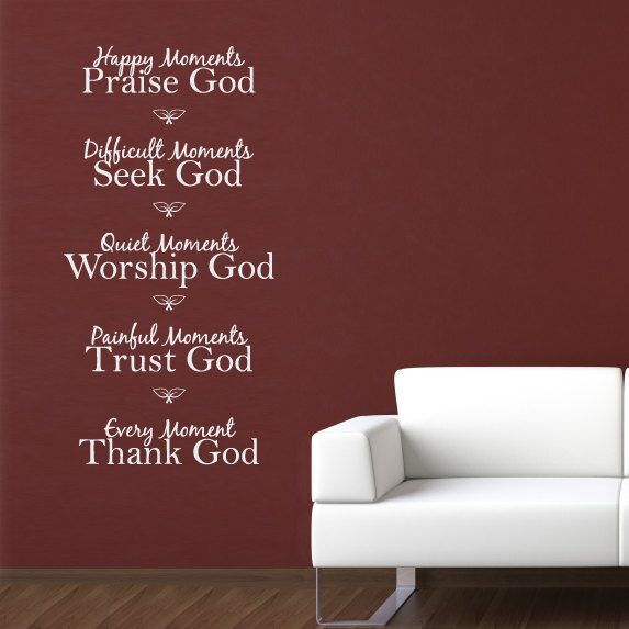 Happy Moments Praise God Quote Decal by StephenEdwardGraphic