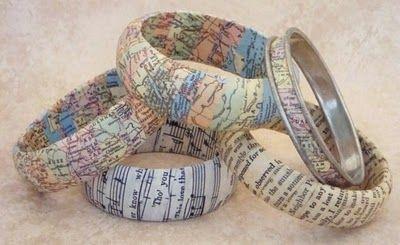 DIY Mod Podge Bracelets :: via My Salvaged Treasures blogspot post on November 27, 2010
