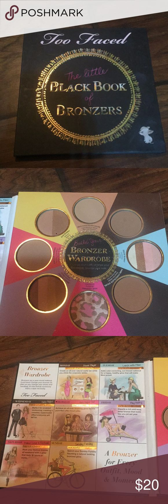 Too faced the little black book of bronzers Only used two colors a couple times as seen in pictures Too Faced Makeup Bronzer