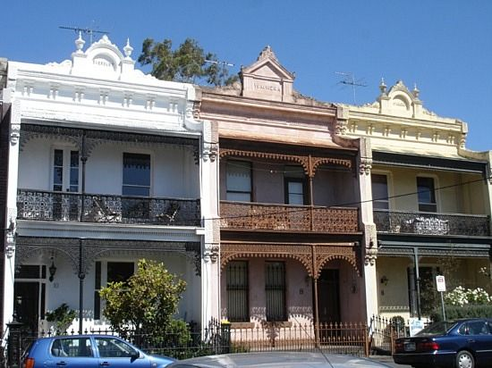 Lots Of Victorian Style Buildings In Melbourne