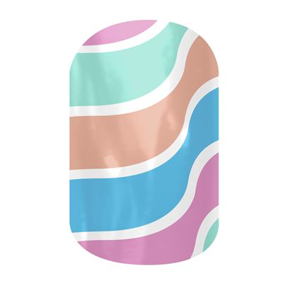 July Sister Style Nail Wrap! Fruit Sorbet  nail wraps by Jamberry Nails