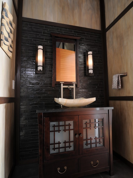 asian inspired home deco asian powder room design pictures remodel decor and ideas home is. Black Bedroom Furniture Sets. Home Design Ideas