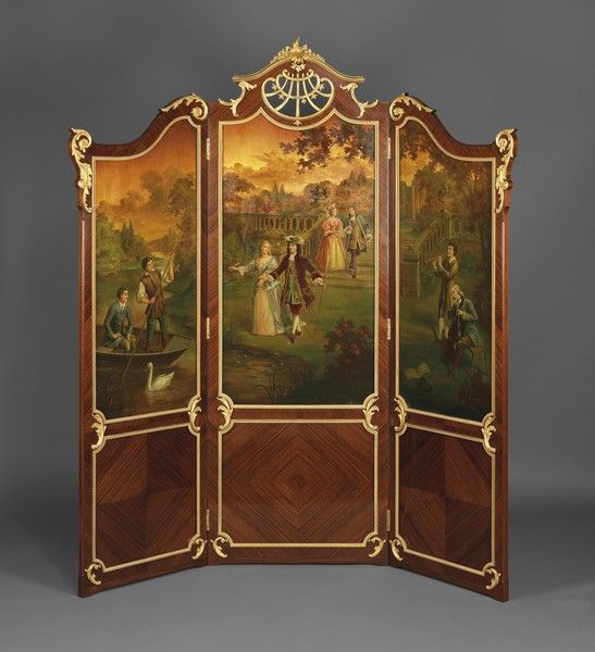French Folding Screens : Best images about antique folding screens on pinterest
