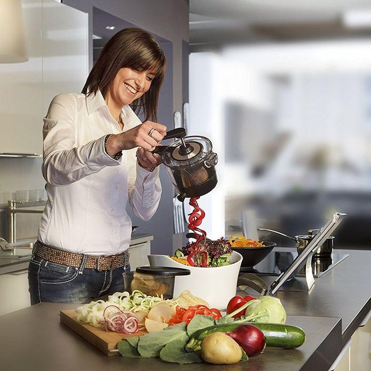 New Portable 360 Rotation Vegetable Spirals Cutter Fix handle Slicer with 4 Blade Spiral Vegetable Cutter(00330)