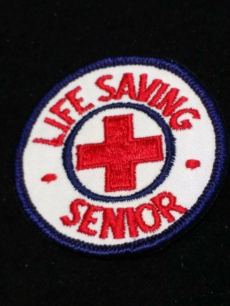 Details About Life Saving Senior Vintage Red Cross Patch In 2020 Cross Patch Red Cross Patches