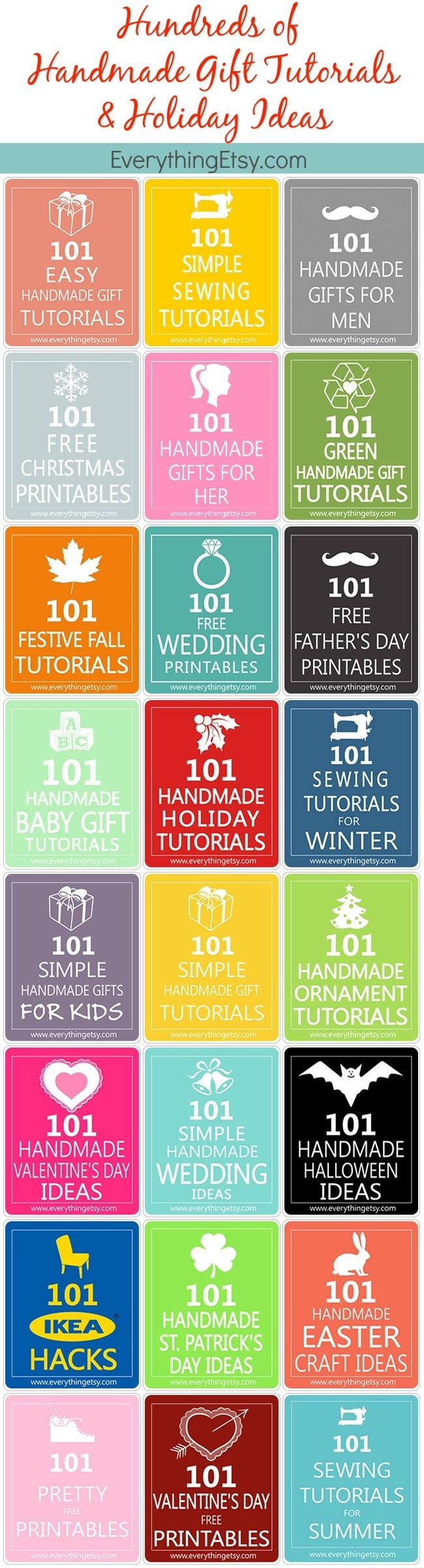 Handmade Gifts Tutorials & Holiday Ideas…Hundreds of Them!