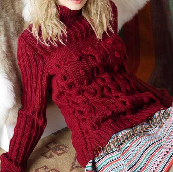 Пуловер (ж) 10*97 Phildar №3938