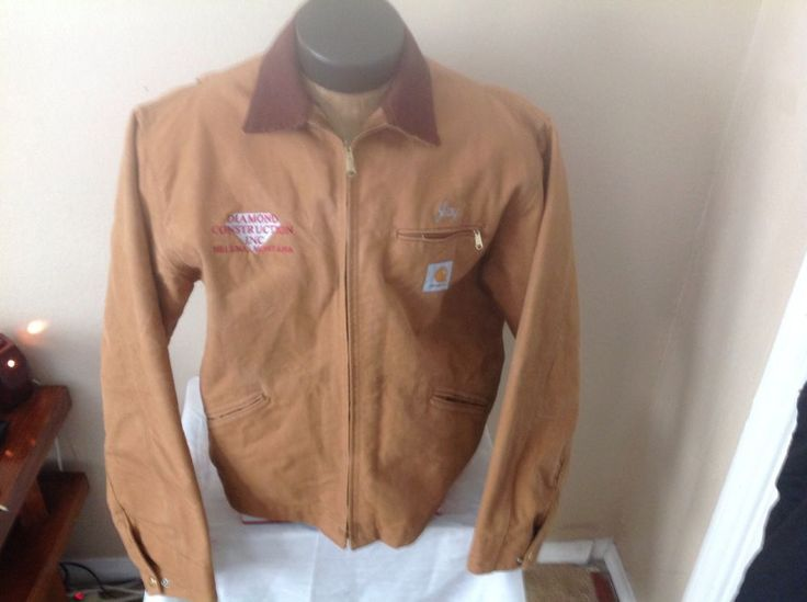 Carhartt Detroit Jacket Blanket Lined Embroidered Size 46 Tall #Carhartt #Detroit