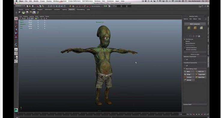 Maya LT for Unity Developers Skeleton Creation 03