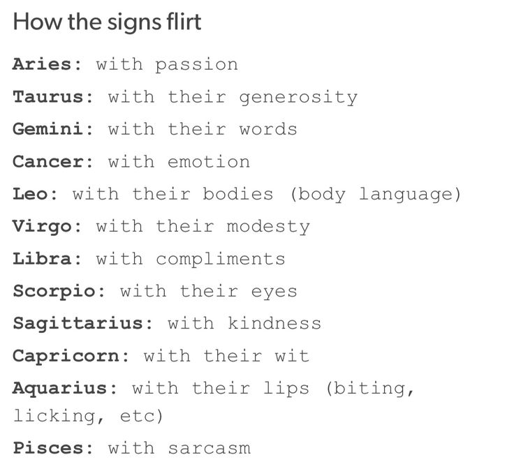 Flirt sign gutta