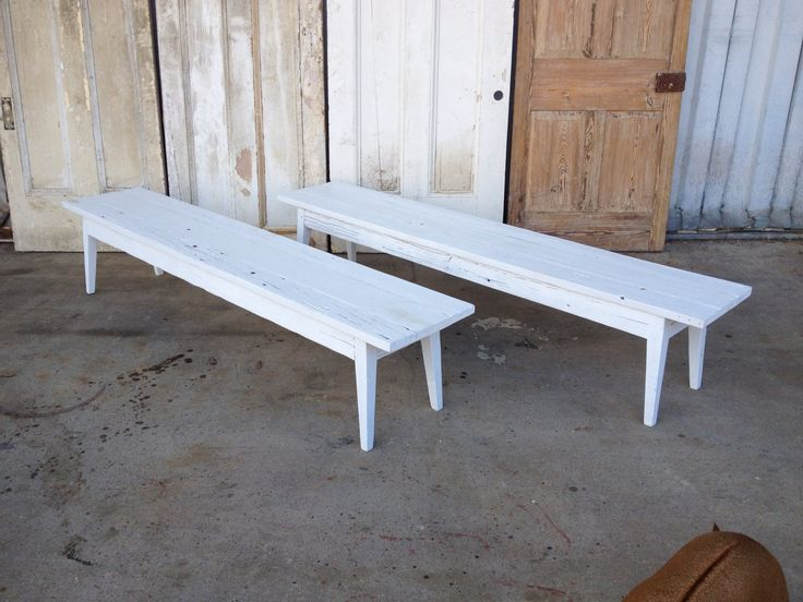 Benches Made From Reclaimed Wood By Landrum Tables In