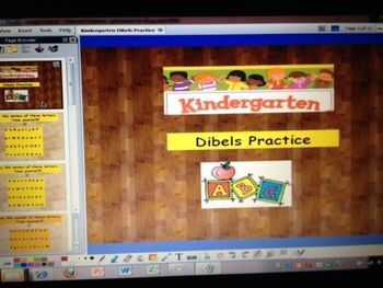 This is an 10 page ActivInspire Flipchart for Promethean Boards.  It gives students lots of practice with Nonsense Word Fluency for the Dibels assessments:  letter identification with lower and upper case, letter sounds using a timer, slot machine fun building silly words, and 2 interactive website links are embedded.