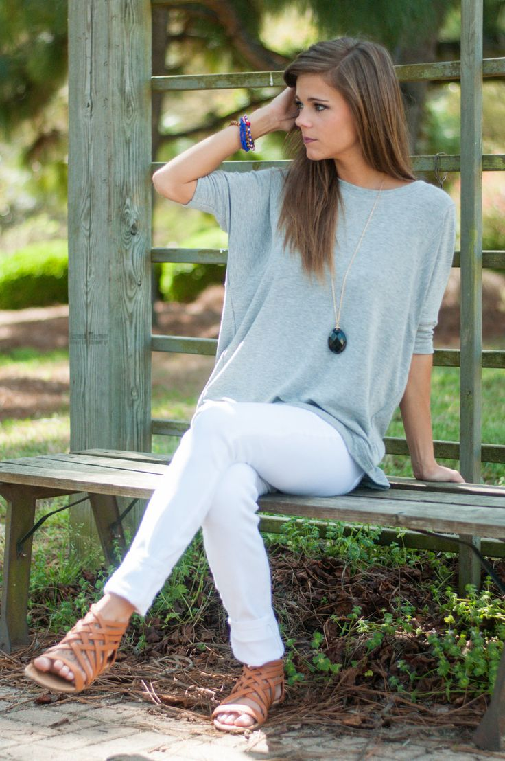 Easy To Lounge Top, Gray - The Mint Julep Boutique