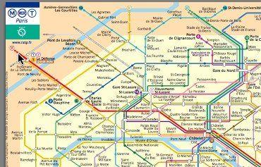 official Paris Metro RER Map
