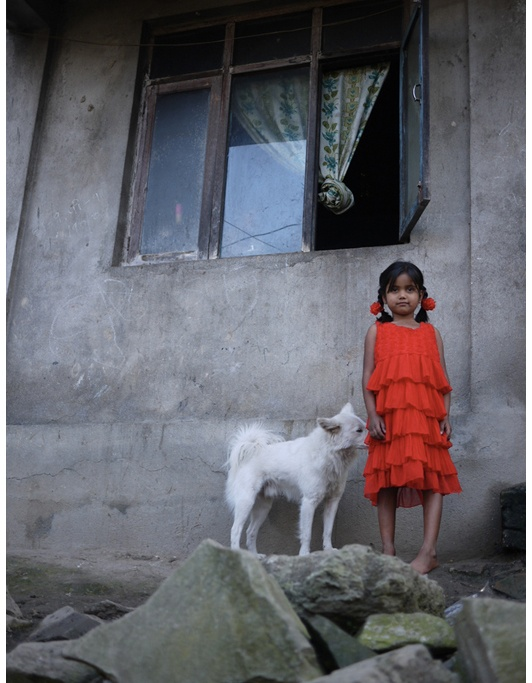 Girl with a red Dress - Kathmandu, Nepal
