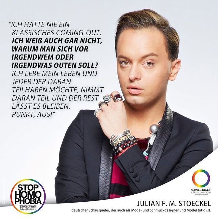 """#QuoteOfTheDay  Künstler Modeschöpfer TV-Bekanntheit: All diese Begriffe passen zu @julianfmstoeckel der vor allem durch seine Zeit im RTL-Dschungelcamp bekannt wurde. Gestern war er zu Gast bei """"Waschen Schneiden Talken"""" mit und von @sebastianboehm. Dabei machte Julian nie einen Hehl aus seiner Sexualität: Der Berliner lebt offen bisexuell.  #EnoughisEnough #StopHomophobia #LGBTI #Community #Gesellschaft #JulianFMStoeckel #Quote #pride #instagay #bisexuell #ComingOut"""