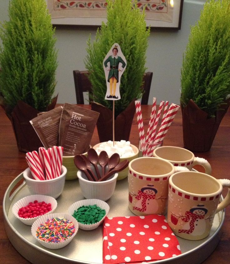 The hot chocolate buffet                                                                                                                                                                                 More