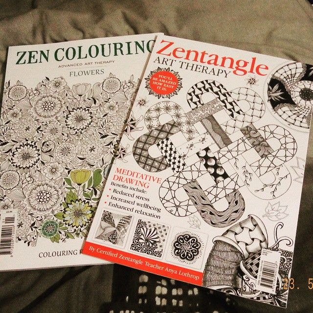 New colouring art books  #art #arttherapymag #arttherapy #coloring
