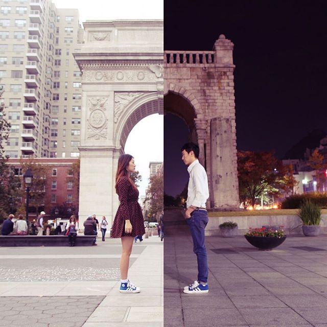 Una coppia a distanza si avvicina grazie al fotomontaggio
