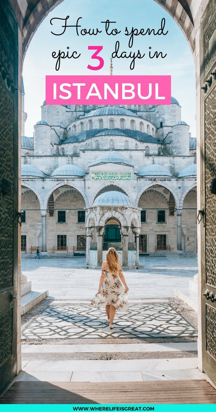 Istanbul: a magical city of contrasts, where modern meets history and Europe meets Asia! Make the most of your visit with my 3 days itinerary. Travel in Europe.