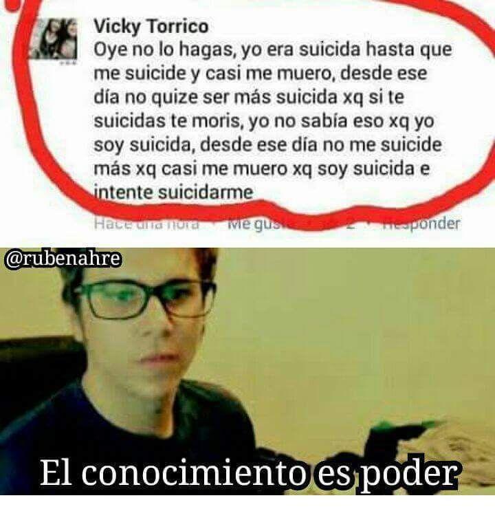 Yo era suicida así que me suicide, pero adivina que! Casi me muero