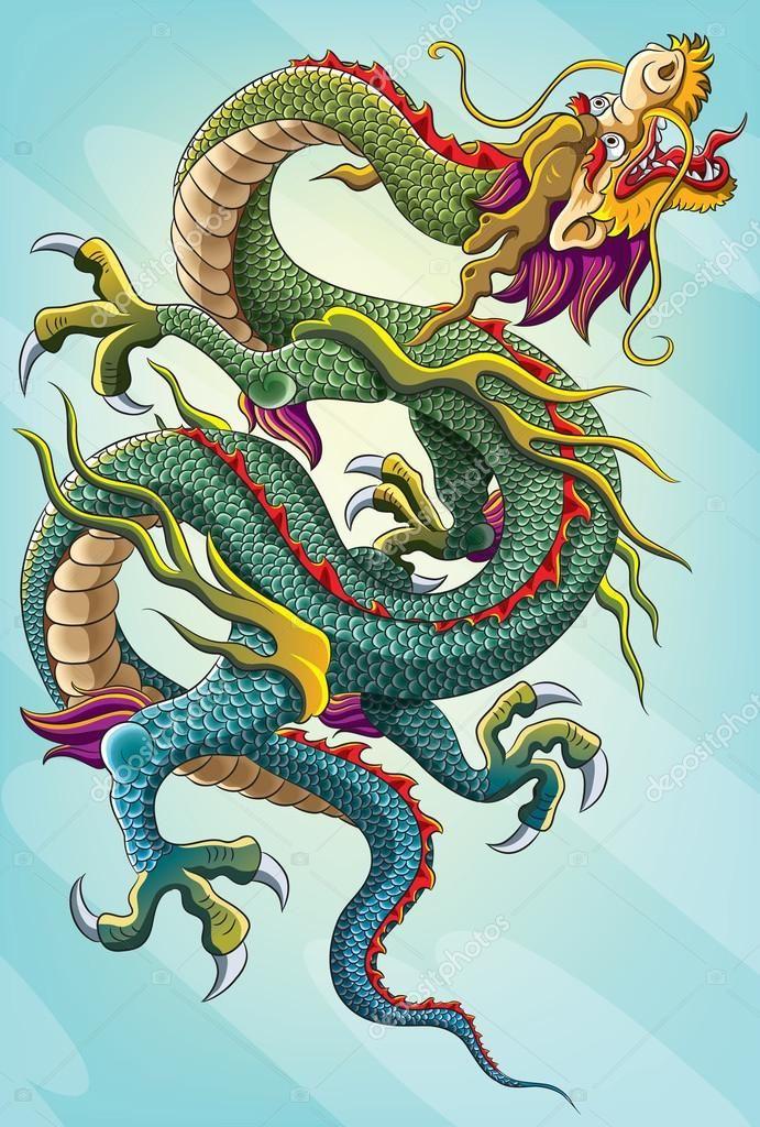 Китайский дракон картина для празднования китайского нового года 2012. Эта версия файла EPS 10