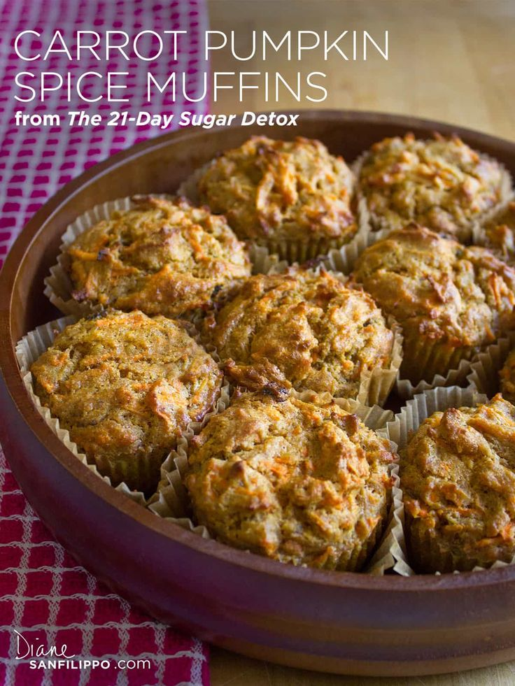 Diane Sanfilippo | Balanced Bites | 21-Day Sugar Detox | Carrot Pumpkin Spice Muffins