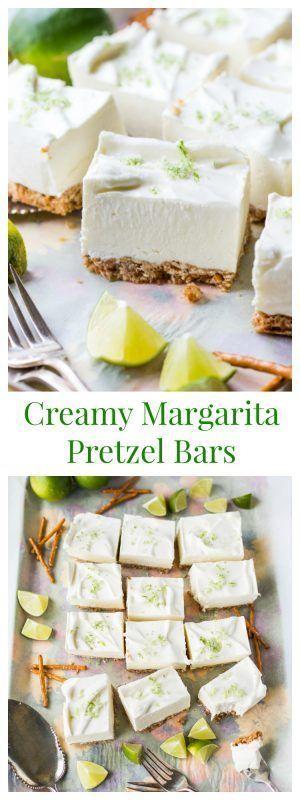Dreamy & Creamy Margarita Pretzel Bars