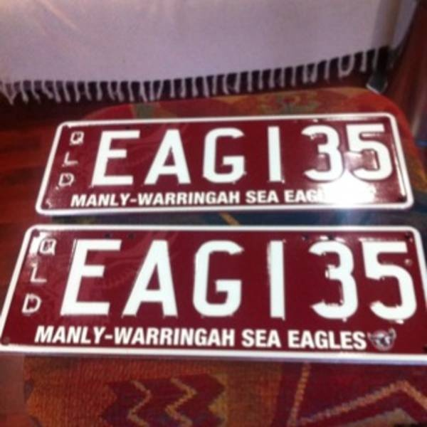 Check out PPQ's Manly Sea Eagles number plates - what a clever combination!