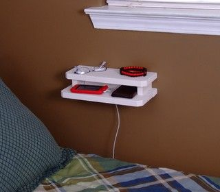 Neat Little Project: Make a Mini Wooden Wall Console Use this handy holder by a bed or desk for eyeglasses or jewelry, or as a convenient charging station