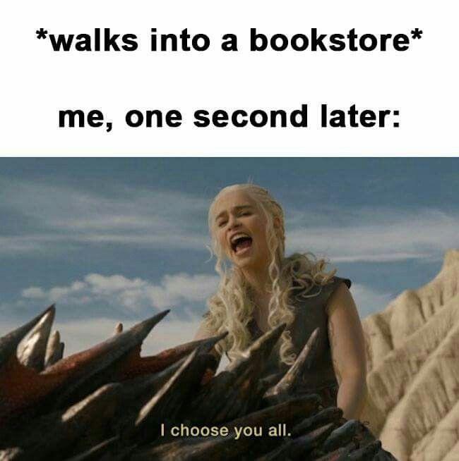 Khi tôi vào hiệu sách  sau 1 giây Anh chọn tất cả các em