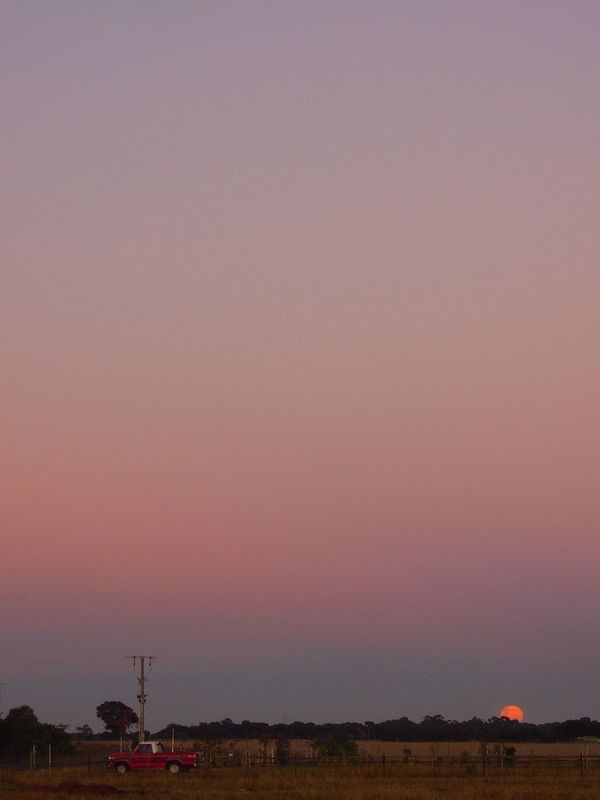 Sunset at Melton Victoria