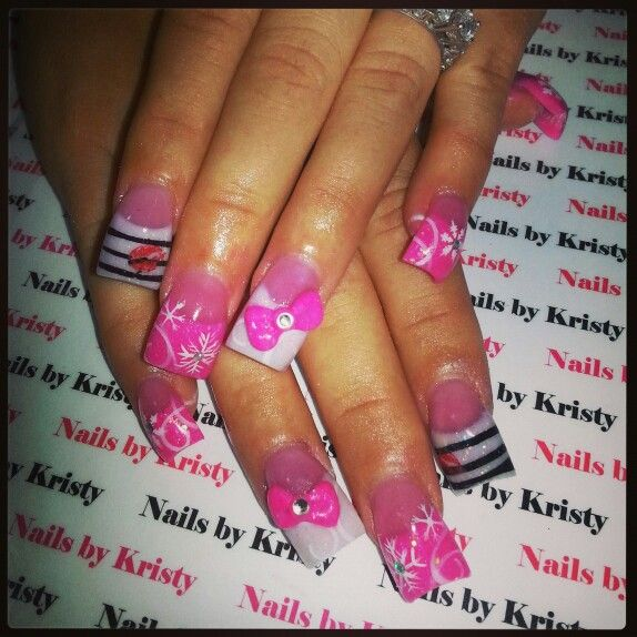 Hand Painted Christmas Nail Art: 148 Best Nails By Kristy Images On Pinterest