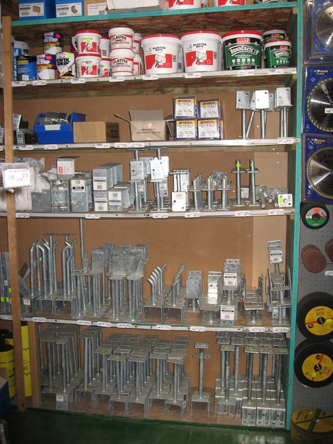Post Supports available at Wayne's World - Timber & Building Supplies