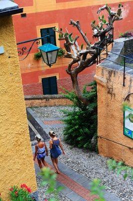 On the streets of Portofino, Italy