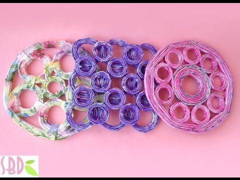 ▶ Sottopentola con carta riciclata - Trivets with recycled paper - YouTube