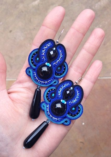 Night Sky earrings - galeriamagia.blogspot.com
