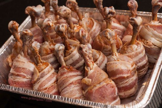 Chicken bacon lollipops on the Pit Barrel Cooker #BBQ - Grilling24x7.com