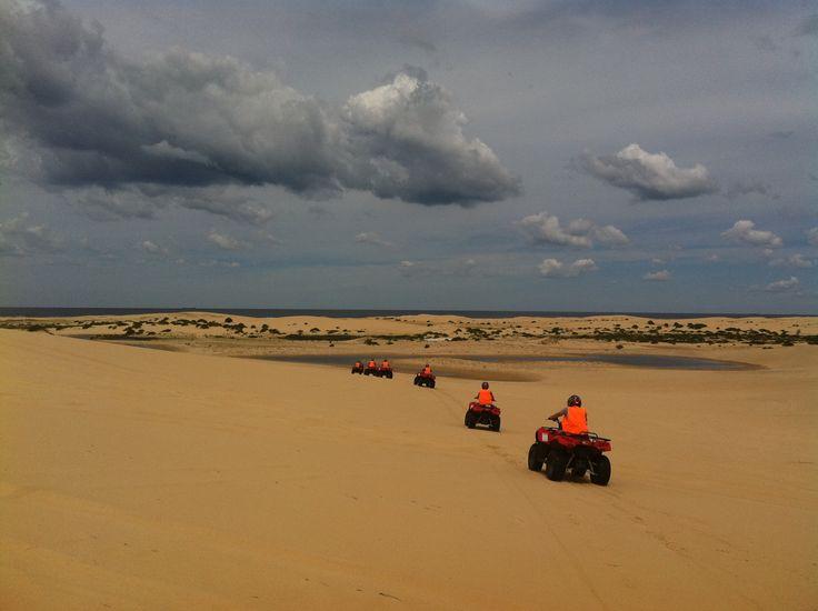 """Rain or Shine"" Sand Dune Adventures tours operate."