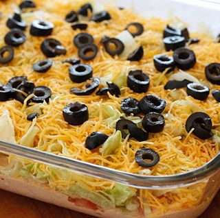 Cooking Pinterest: Skinny Taco Dip * This is a hit at parties!